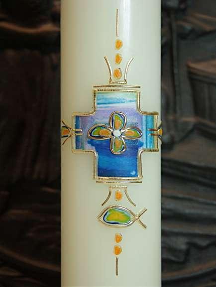 Taufkerze Kreuz