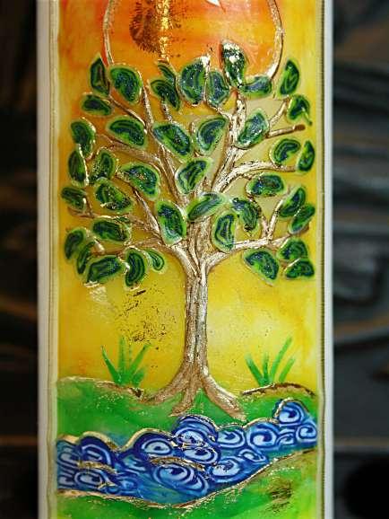 Taufkerze Lebensbaum