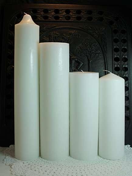 Kerzenrohling weiß