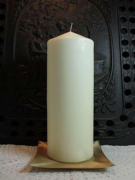 Kerzenrohling elfenbein