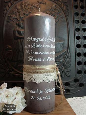 Individuelle Hochzeitskerze Marzena