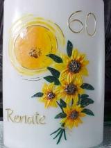 Geburtstagskerze Zoe mit Sonnenblumen