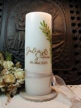Dicke Hochzeitskerze Philine mit Ornament