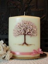 Hochzeitskerze Oktavia  mit Lebensbaum