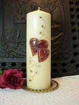 Romantische Hochzeitskerze Veronika