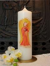 Taufkerze Mira mit Engel und Herz
