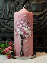 Taufkerze Vivien mit Blütenbaum