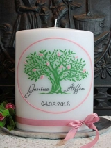 Hochzeitskerze Anke mit Baum