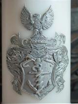 Taufkerze Bruno mit Wappen