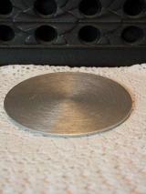 Kerzenteller modern schlicht silber