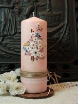 Taufkerze Antonella mit Blüten