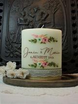Hochzeitskerze Marcella mit Blüten