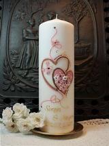 Hochzeitskerze Augusta mit Herzen