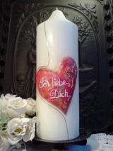Valentinskerze Valentina
