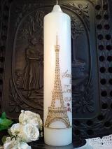 Hochzeitskerze Emilia mit Eiffelturm