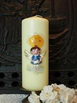 Taufkerze Winfried mit Engel