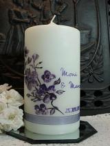 Bemalte Hochzeitskerze Mia