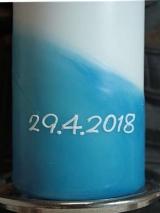 Beschriftung mit einem Datum