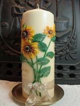 Erinnerungskerze Kora mit Sonnenblumen