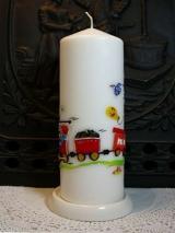 Geburtstagskerze Friedrich mit Eisenbahn