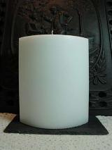 Große Ovalkerze weiß/220/150/80