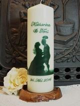 Hochzeitskerze Alina mit Brautpaar