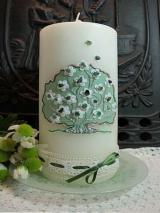 Hochzeitskerze Gerlinde mit Baum