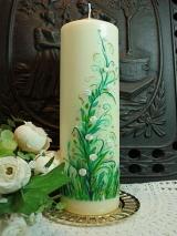 Hochzeitskerze Isa mit floralem Motiv