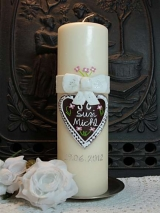 Hochzeitskerze Susi mit Herz