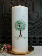 Hochzeitskerze Ophelia mit Lebensbaum