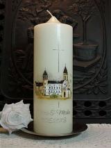 Hochzeitskerze Verena mit Schloss