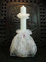 Kerzenmanschette Luisa mit Tropfschutz