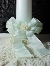 Kerzenmanschette Maria/ weiß