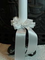 Kerzenmanschette Sonja/ Weiß