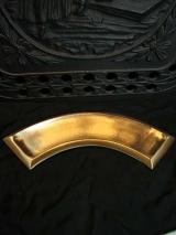 Kerzenteller für Bogenkerze /Gold
