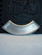 Kerzenteller für Bogenkerze /Silber