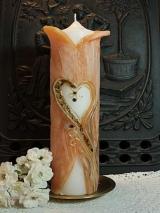 Mantelkerze Saskia mit Herz