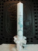 Taufkerze Donna mit Kreuz und Ornamenten