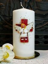 Taufkerze Hildegard mit Engel