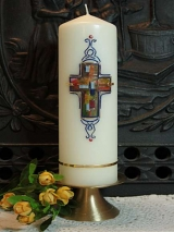Taufkerze Ulla mit Kreuz